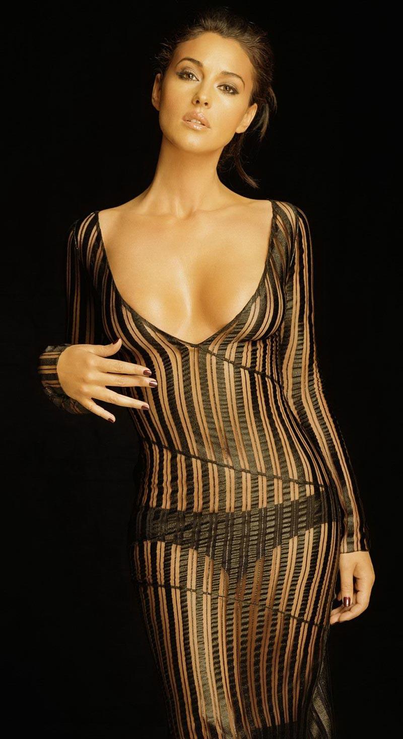 Monica Bellucci Sensual Cuerpo Lencería