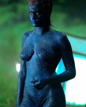 Mística desnuda X-Men