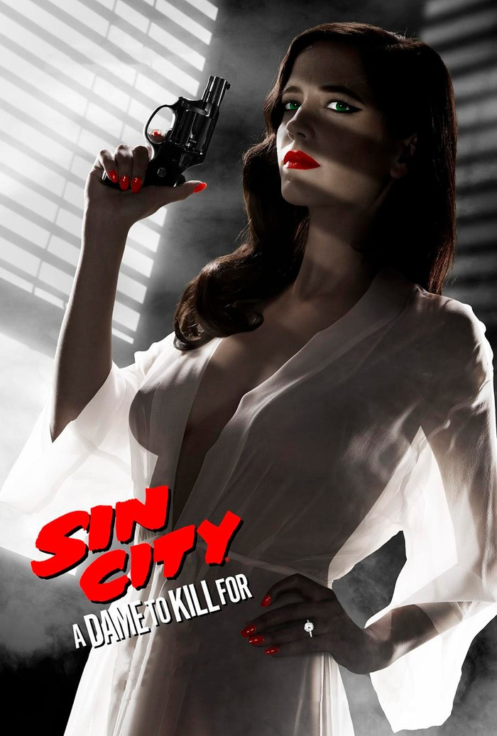 Actriz Eva Green portada Sin City 2