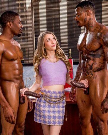 Karla Kush doble penetración interracial
