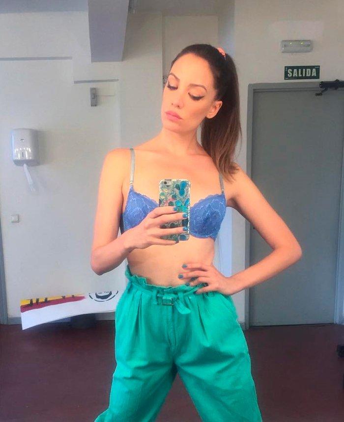 María Hervás selfie en ropa interior