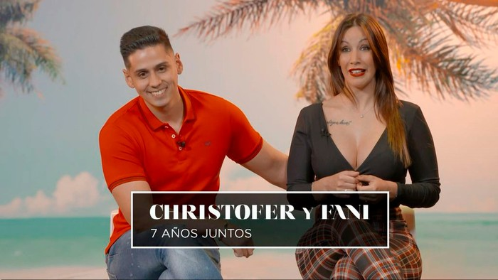 Fani y Christofer pareja Isla de Tentaciones