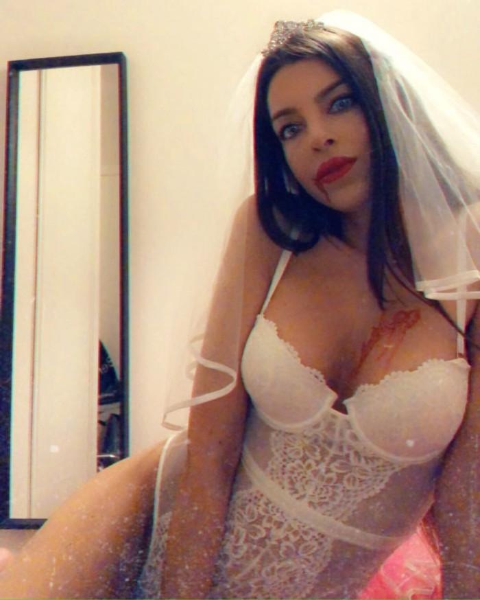 Andrea Gasca disfrazada de novia vampiro