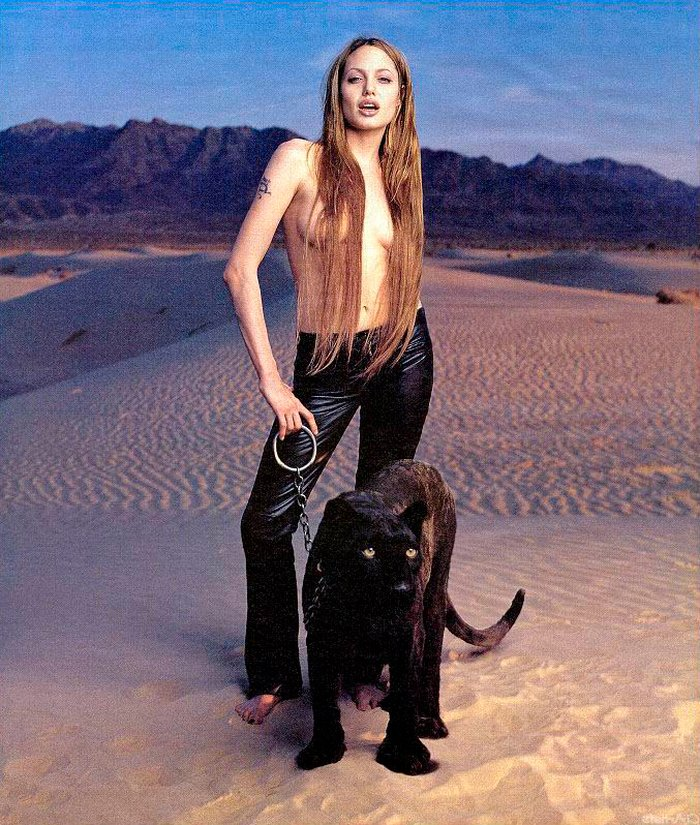 Angelina Jolie posado sexy revista moda
