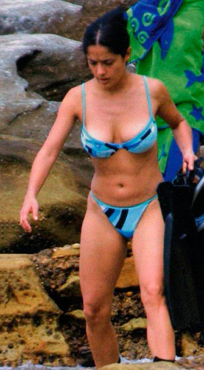 Salma Hayek fotos bikini vacaciones