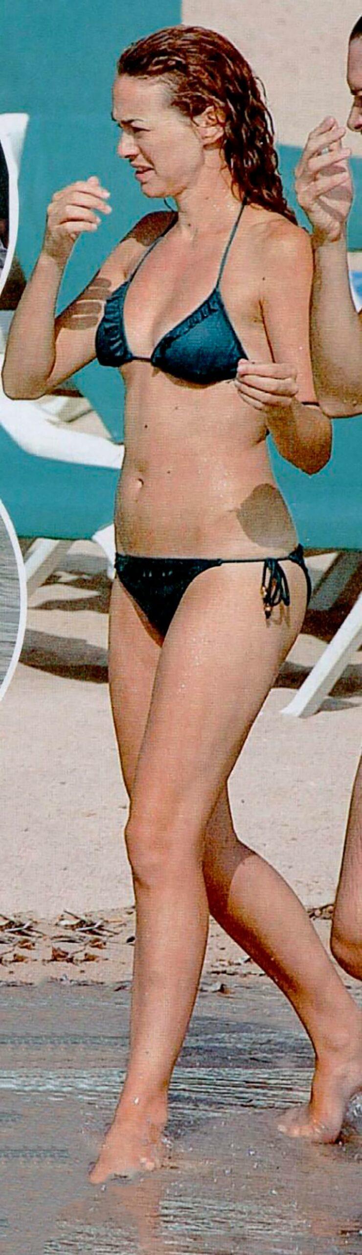 Marta Hazas Bikini Pillada Paparazzi Playa