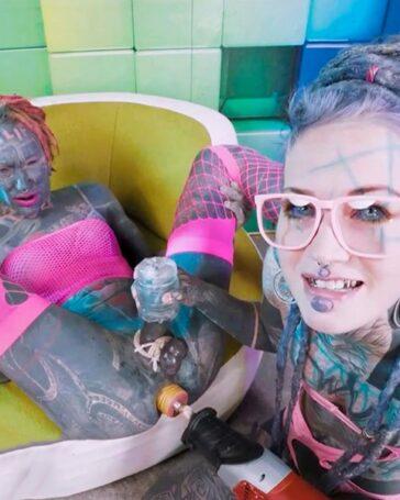 Anuskatzz camgirl cara extrema tatuajes porno