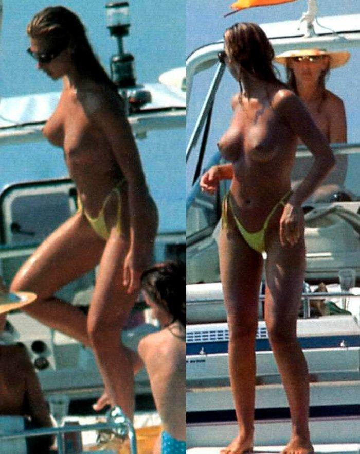 Mónica Pont Pillada Topless Playa Ibiza 3