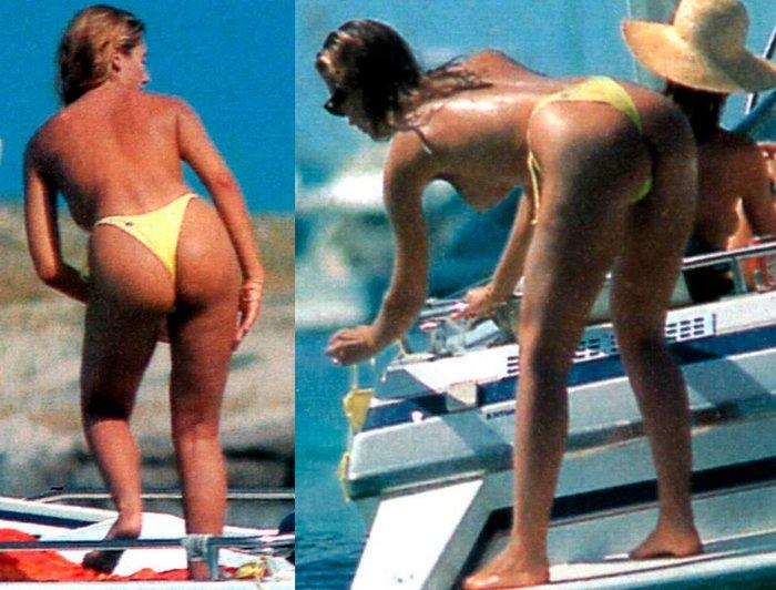 Mónica Pont Pillada Topless Playa Ibiza 4