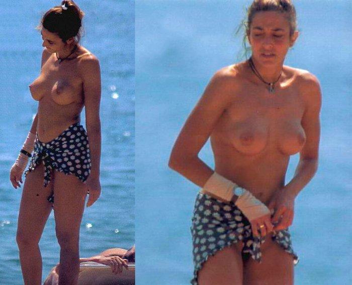 Elsa Anka Pillada Fotos Topless Playa 2