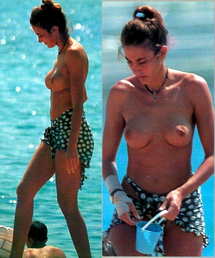 Elsa Anka Pillada Fotos Topless Playa 6