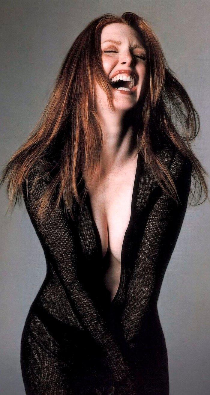Julianne Moore Fotos Eróticas Sensuales Sujetador