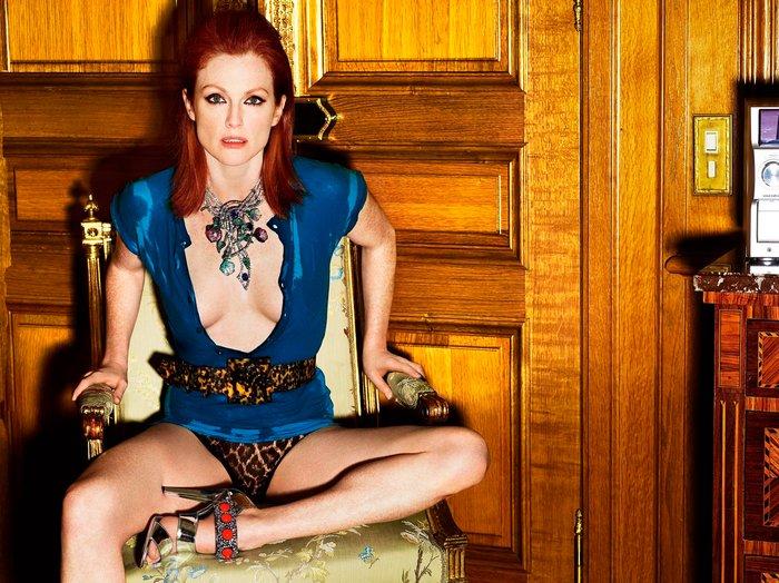 Julianne Moore Fotos Escote Posado Moda