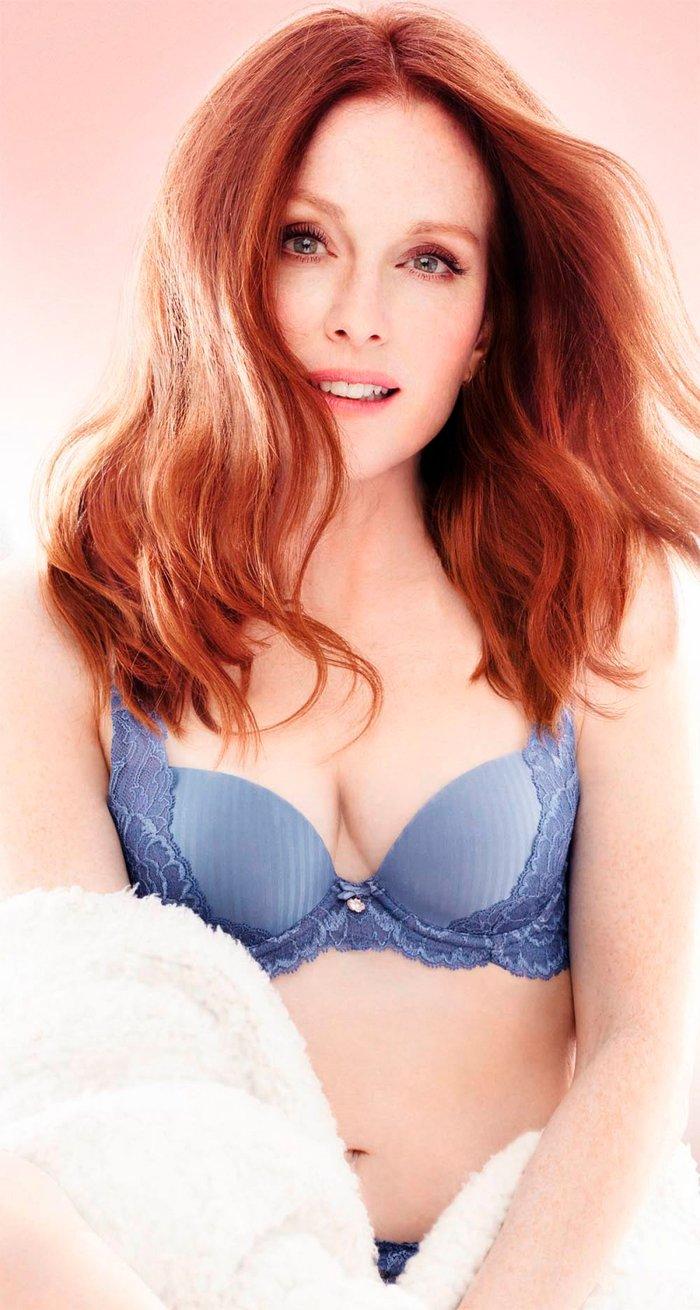 Julianne Moore Posado Erótico Lencería 2
