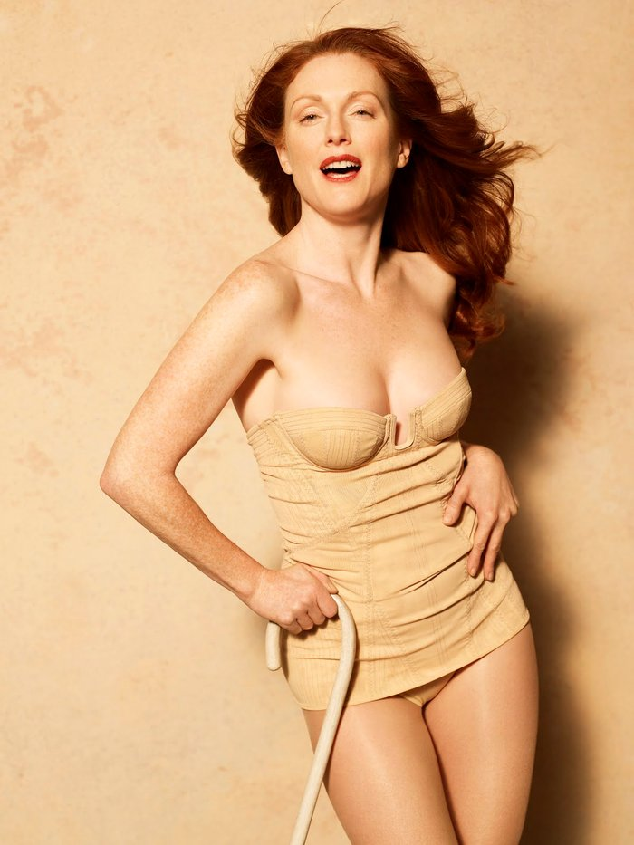 Julianne Moore Posado Erótico Lencería