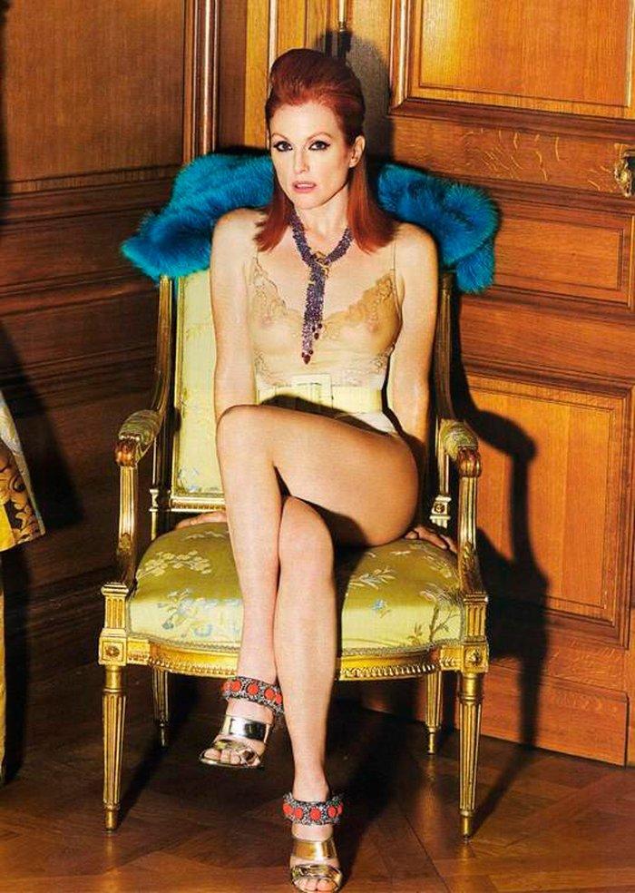 Julianne Moore Transparencia Pezones Posado Moda