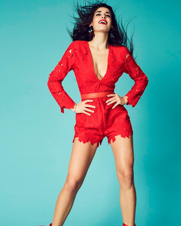 Lidia Torrent Fotos Sexys Vestido Rojo