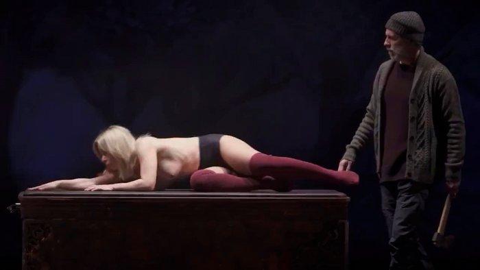 María Adánez Desnuda Tetas Obra Teatro