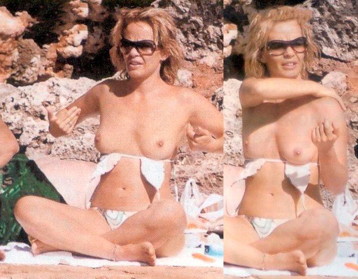 María Adánez Enseña Tetas Vacaciones Playa 5