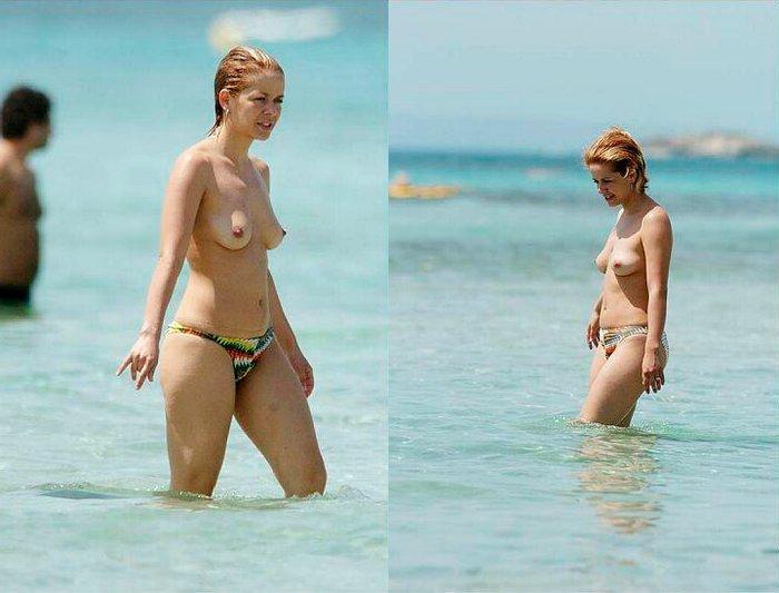 María Adánez Topless Interviu Playa Menorca 2