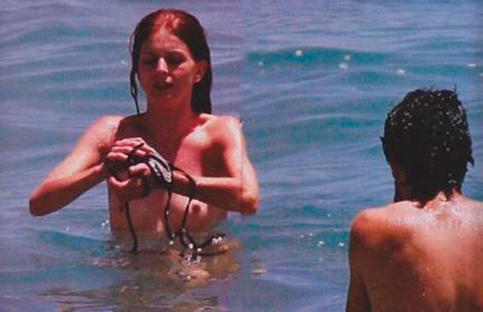 Marian Aguilera Pillada Topless Playa Tetas 3