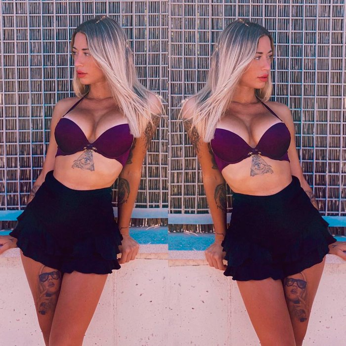 Mayka Rivera Semidesnuda Posado Pechos Culo 4