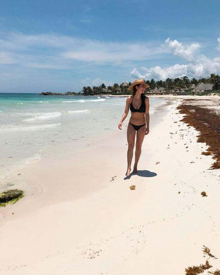 Alicia Sanz Semidesnuda Fotos Vacaciones Playa