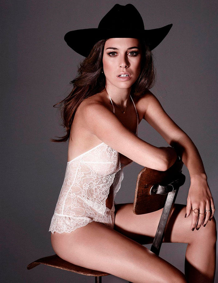 Blanca Suárez Conjunto Lencería Fina Sexy 6