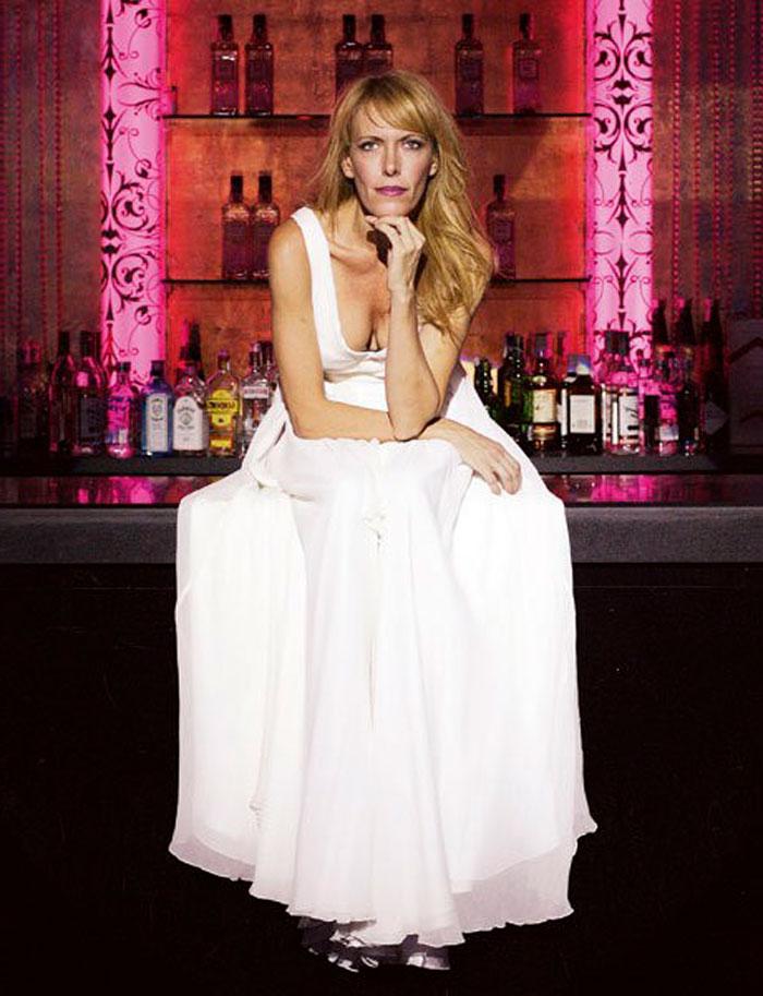 Carmen Conesa Vestido Blanco Sexy