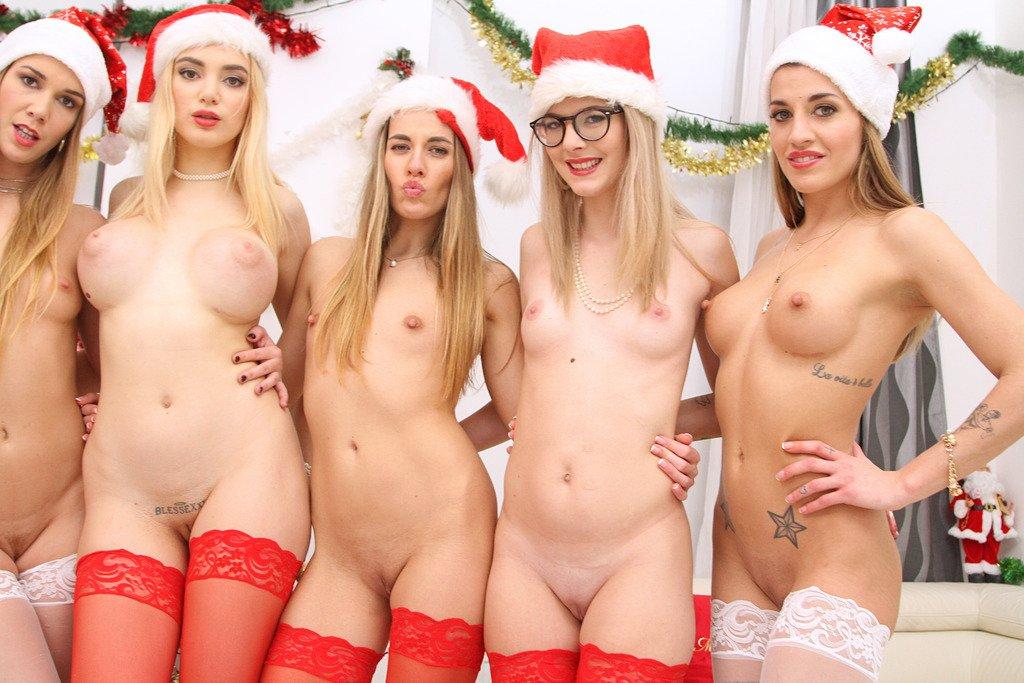 Hermanas Dellai Orgía Navidad Legal Porno 10