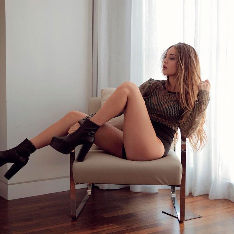Ana Mena Posado Lencería Erótica 9