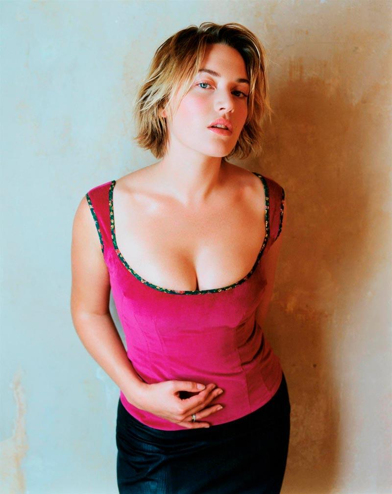 Kate Winslet Actriz Sobrepeso Generosos Pechos