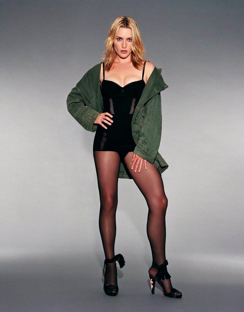 Kate Winslet Posado Erótico Lencería 3