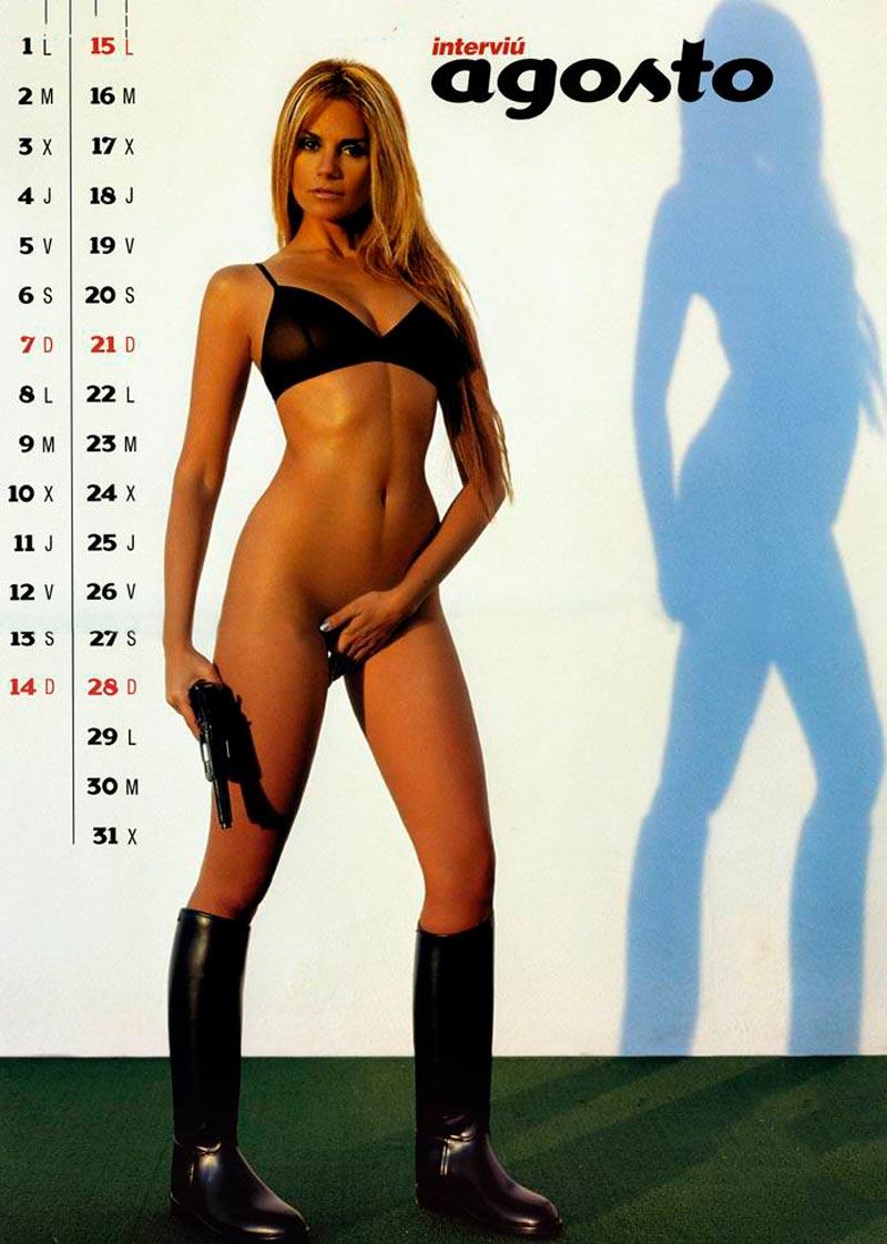 Sylvia Pantoja Desnuda Calendario Erótico Interviu 9