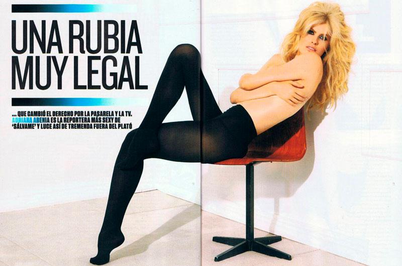Adriana Abenia Fotos Semidesnuda Revista Gq 4