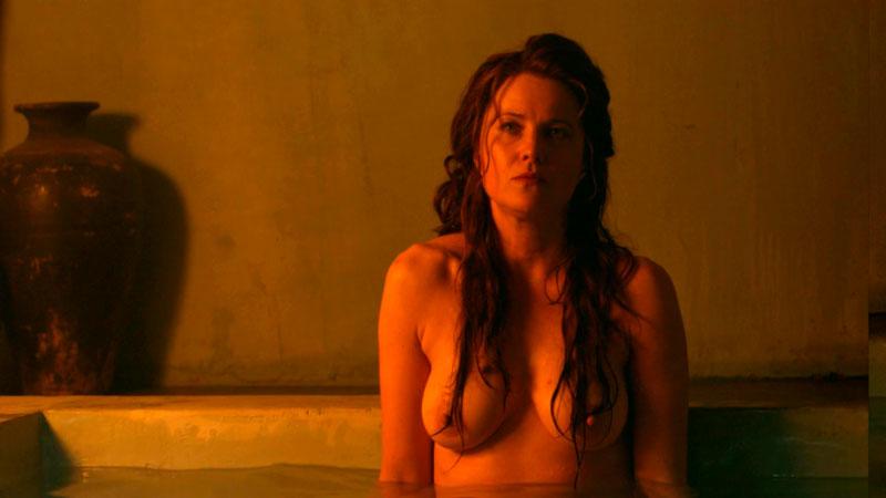 Lucy Lawless Lucrecia Desnuda Tetas Serie Spartacus 2