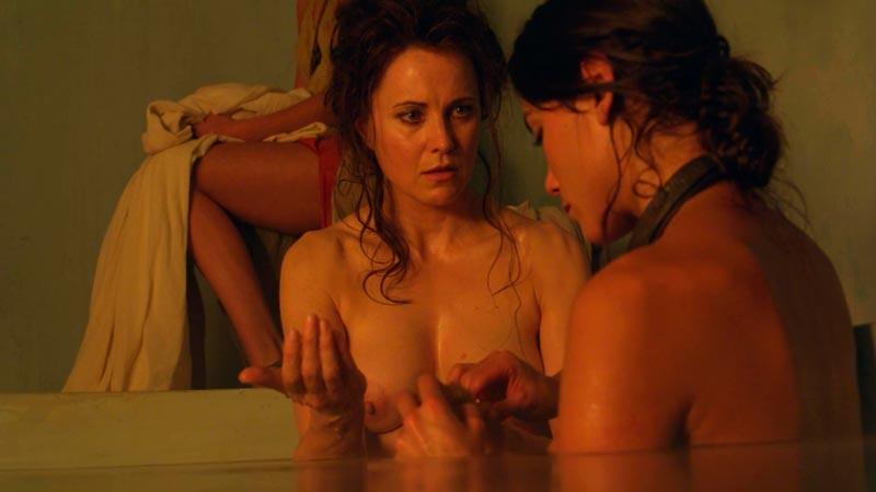 Lucy Lawless Lucrecia Desnuda Tetas Serie Spartacus 4