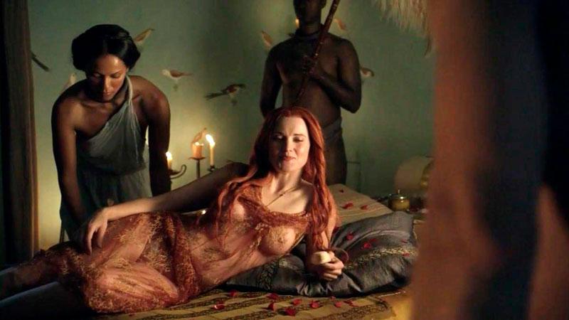 Lucy Lawless Desnuda Serie Spartacus