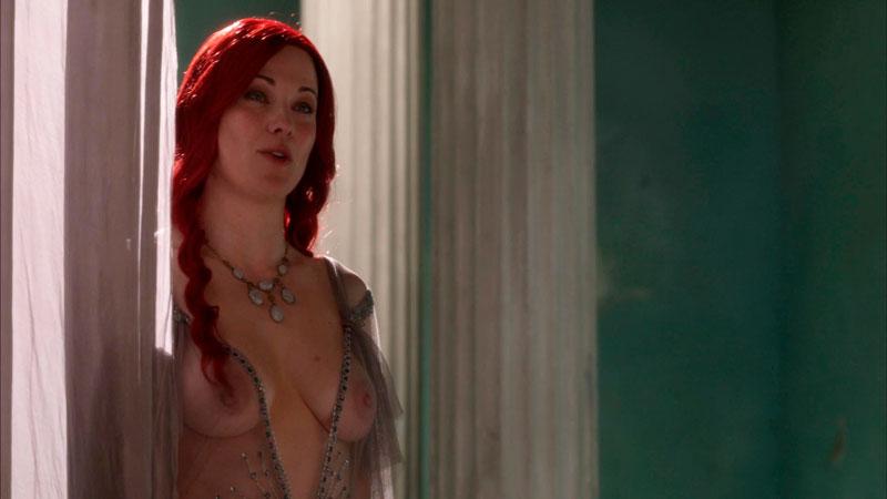 Lucy Lawless Desvestida Serie Spartacus