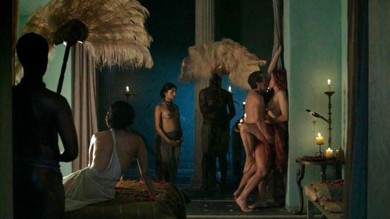 Lucy Lawless Escenas Sexuales Serie Spartacus
