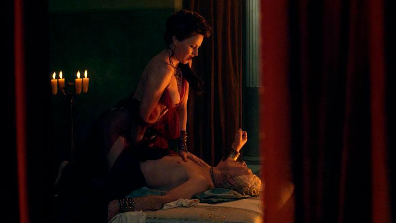 Lucy Lawless Follando Amante Serie Spartacus