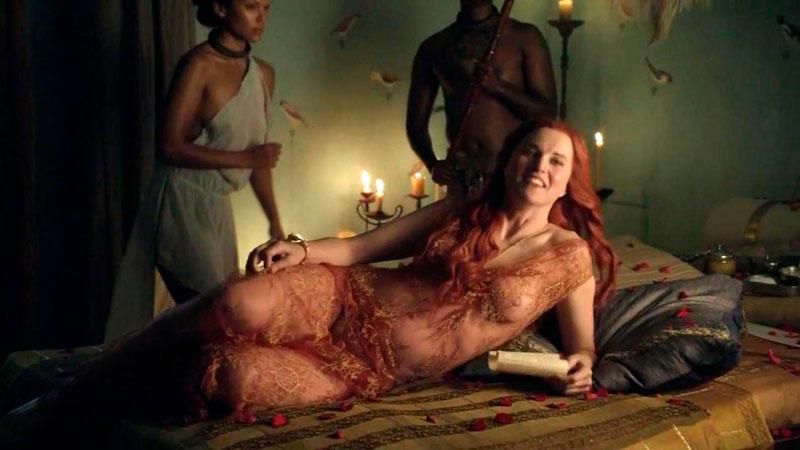 Lucy Lawless Foto Erótica Serie Spartacus
