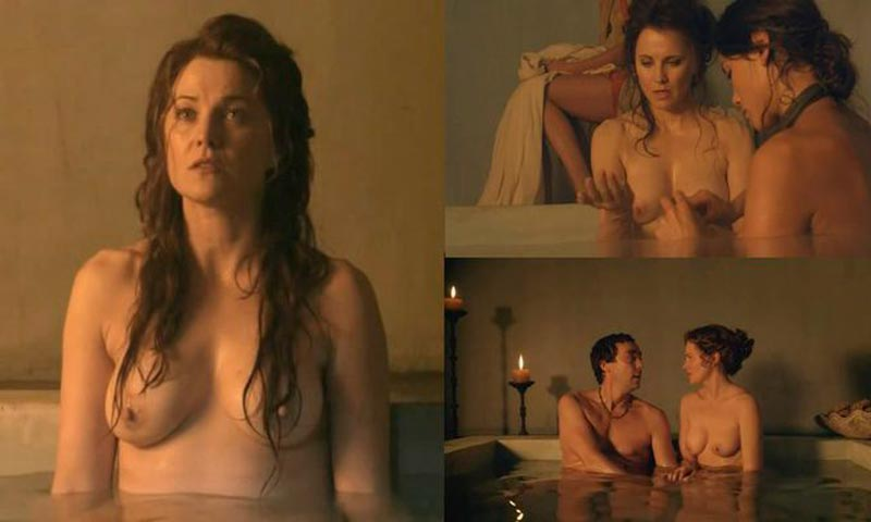 Lucy Lawless Pechos Serie Spartacus