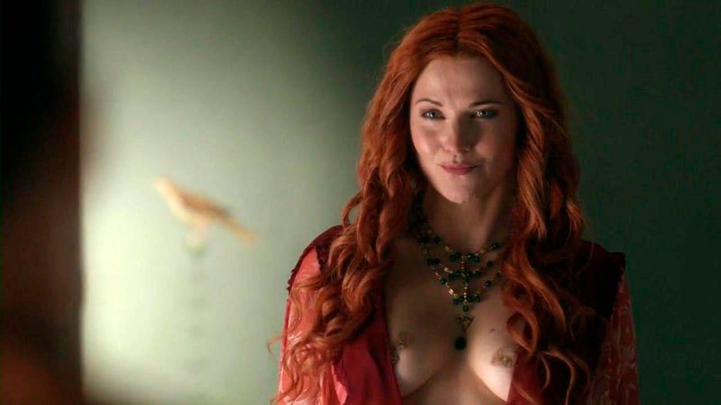 Lucy Lawless Topless Serie Spartacus