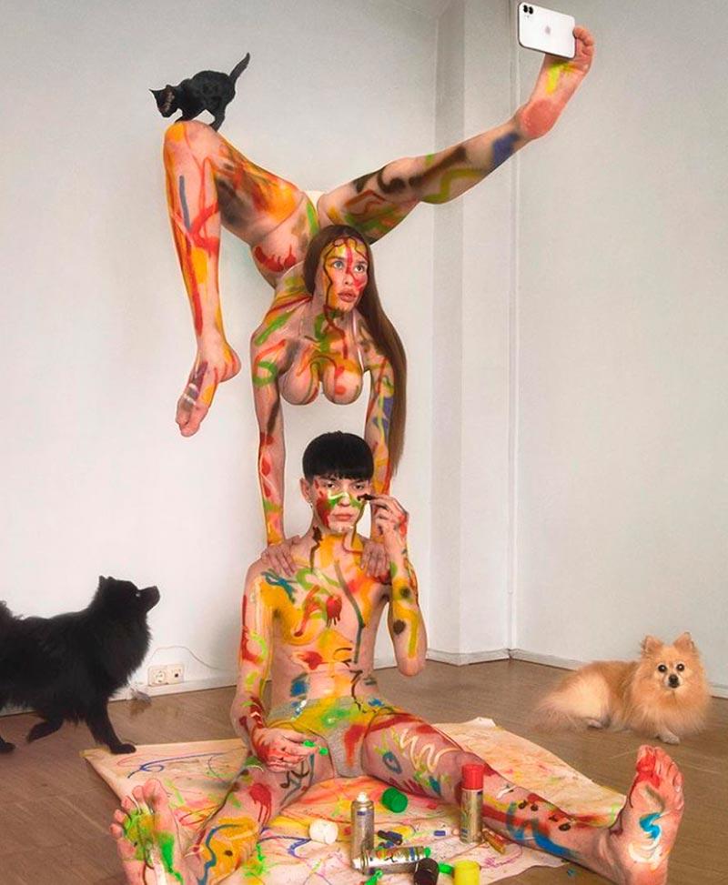 María Forqué Desnuda Artista Transgresora Performance 4