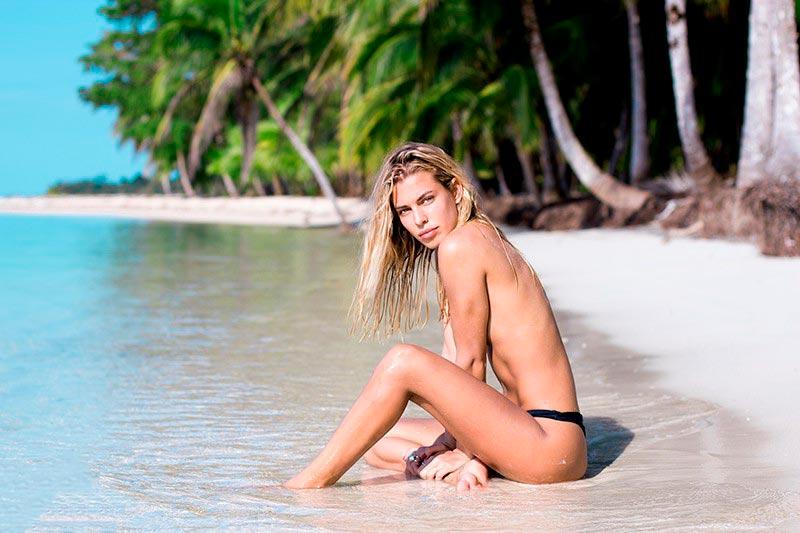 Jessica Goicoechea Topless Tapado Fotos Instagram 2