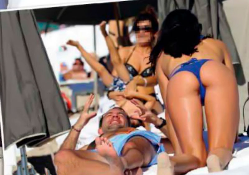 Verónica Hidalgo Fotos Playa Bikini Azul 5