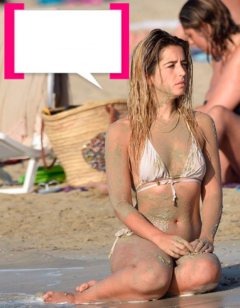 Lola Índigo Pillada Bikini Playa 3