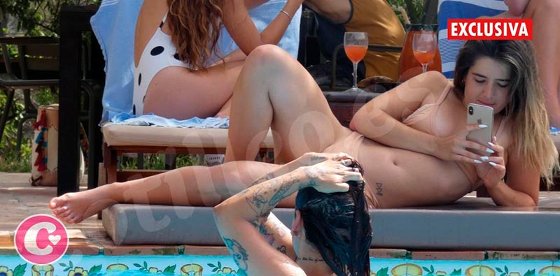 Lola Índigo Topless Fotos Pillada Piscina