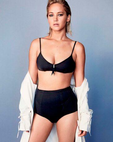 Jennifer Lawrence Posado Lencería Sexy
